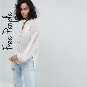 NEW Free People Headed To The Highlands Shirt
